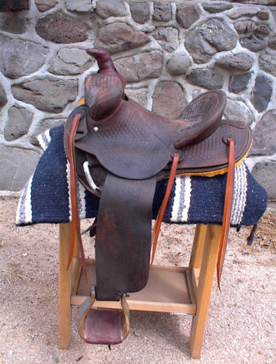 Hamley Form-fitter Saddle made 5-18-39 by Henry Domas for Robinson Bro. Baker, Nevada C-Tree $76.45